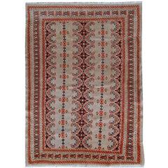 Handmade Vintage Uzbek Bukhara Rug, 1960s, 1C491