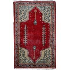 Handmade Antique Turkish Konya Rug, 1920s, 1C500