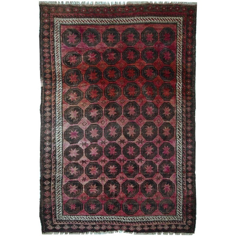 Antique Afghan Rugs: Handmade Antique Afghan Baluch Rug, 1910s For Sale At 1stdibs