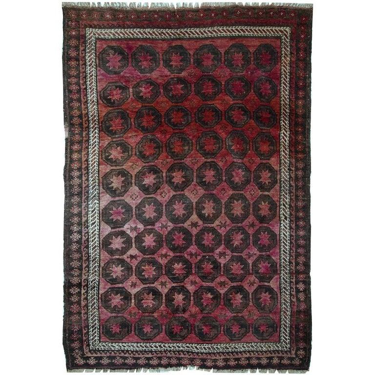 Handmade Antique Afghan Baluch Rug, 1910s For Sale At 1stdibs
