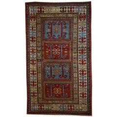 Handmade Antique Caucasian Kazak Rug 1970s For Sale At