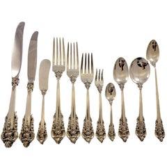 Grande Baroque by Wallace Sterling Silver Flatware Service 12 Set 145 pcs Dinner