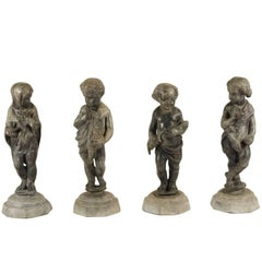 """Lead Statues Depicting """"the Four Seasons"""""""