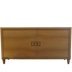 Light Cerused Oak Credenza, France, 1940s