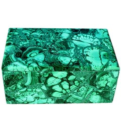 Large Natural Malachite Box, Gem Stone Jewelry Box