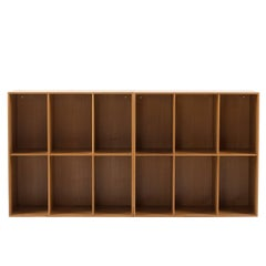 Mogens Koch Bookcases in Elm for Rud. Rasmussen
