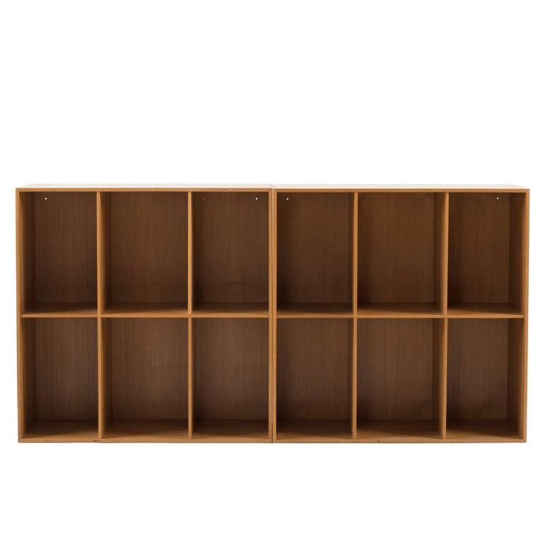 Mogens Koch Bookcases in Elm for Rud. Rasmussen