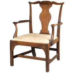 Mid-18th Century Elbow Chair of Very Substantial Proportions