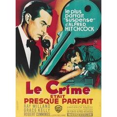 """""""Dial M for Murder / Le Crime Etait Presque Parfait"""" French Movie Poster"""
