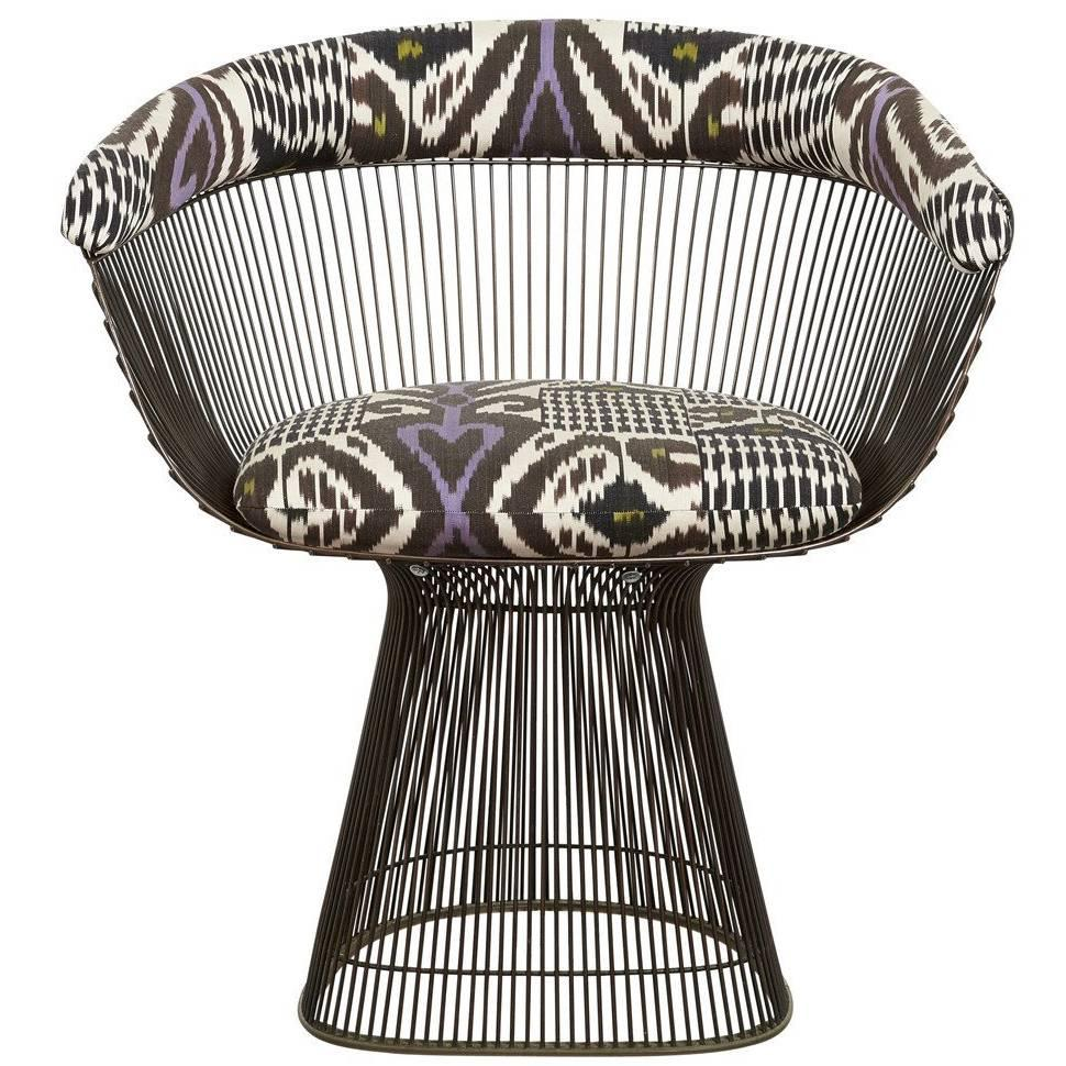 Set Of Four Vintage Warren Platner, Bronze Dining Chairs, USA, 1960s