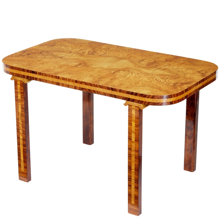 Later Deco Swedish Elm Root Coffee Table For Sale