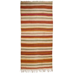 Vintage Berber Moroccan Kilim with Tribal Boho Chic Style