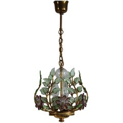 Rare and Lovely Amethyst Chandelier in the Style of Maison Bagues, France, 1950s