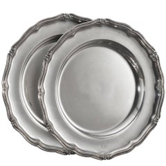 Pair of 19th Century Russian Silver Plates