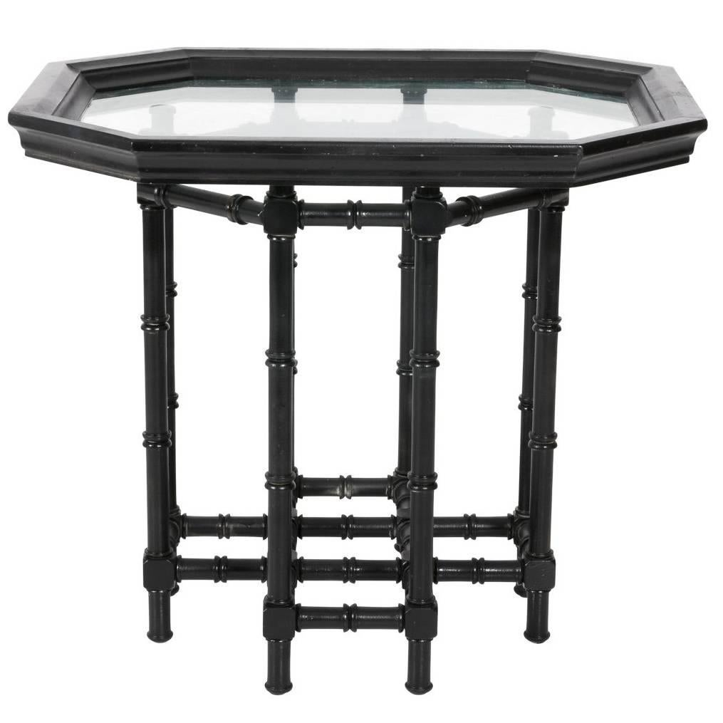 Faux Bamboo End Table For Sale