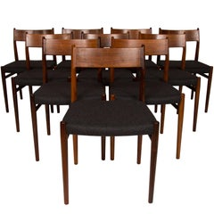 Set of Ten Arne Vodder Rosewood Dining Chairs