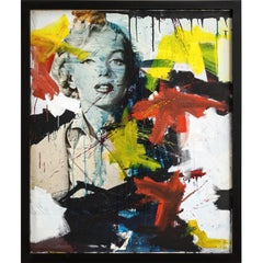 Marilyn Monroe Abstract Painting