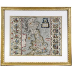 Framed Map of the British Isles by John Speed