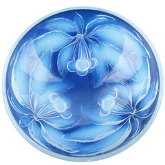 French Art Deco Opalescent Pressed Glass Centre Bowl