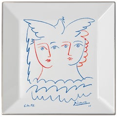 Two Women with Dove Plate by Pablo Picasso