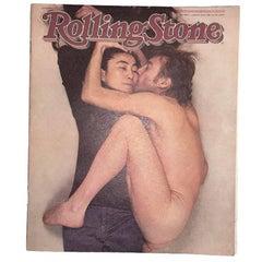 Rolling Stone Yoko Ono and John Lennon Original January 22 1981 Magazine