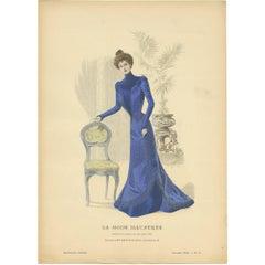 Antique Fashion Print Published by La Mode Illustrée, No. 50, 1899