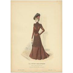 Antique Fashion Print Published by La Mode Illustrée 'No. 40 - 1899'