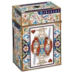 Early 20th Century Faberge Style Russian Card Box