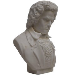 Carrera Marble Bust of Beethoven, 19th Century