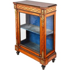 19th Century Satinwood Display Cabinet, in the Style of Donald Ross