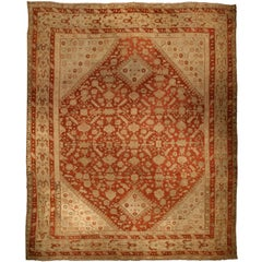 Oversized Vintage Turkish Ghiordes Carpet