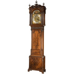 George III Period Carved Mahogany Longcase Clock by George Monk of Prescot