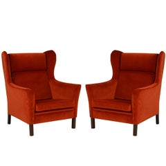 Pair of 1970s Danish Wingback Armchair