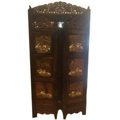 19th Century, Indian Wood Partition with Beautiful Details