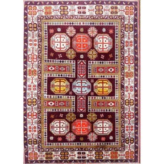 Antique Caucasian Derbent Rug