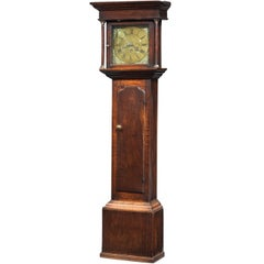 George III Period Oak Longcase Clock by E. Foster of Carlisle