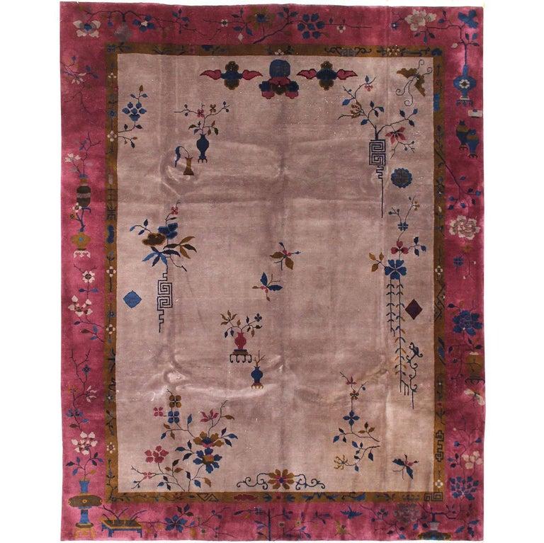 Antique Chinese Art Deco Rug