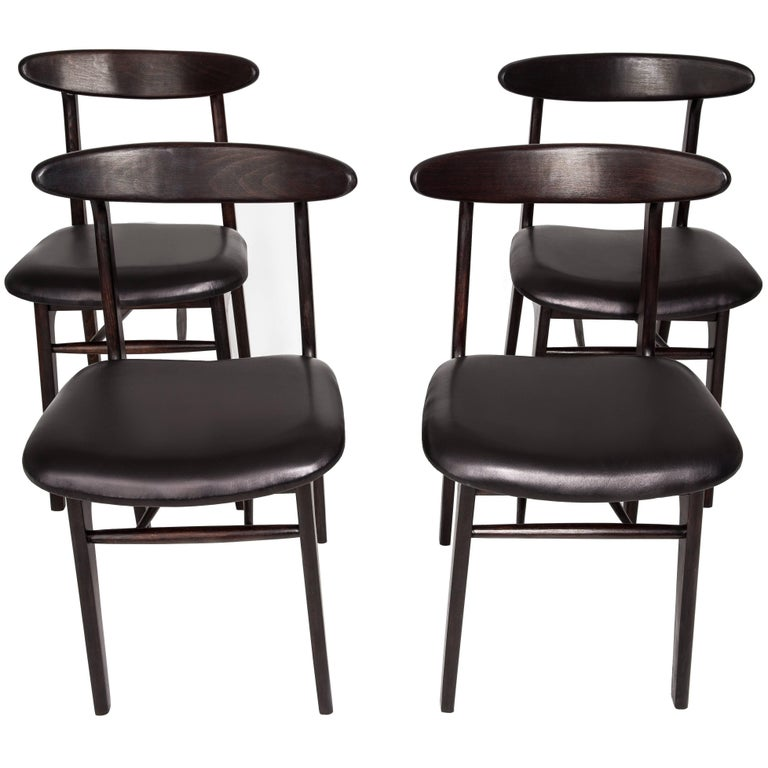 Set of Four Dining Chairs, Poland, 1960s
