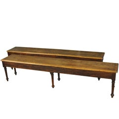 Pair of Spanish 19th Century Benches