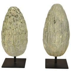 Pair of 18th Century Stone Finials