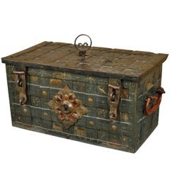 Early 18th Century German Iron Safe, Coffre Forte