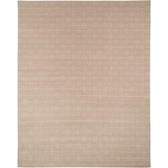 Cream and White Deco Style Area Rug