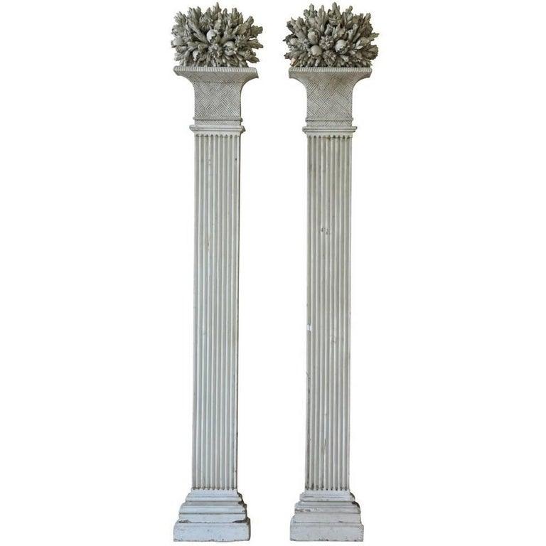 Exquisite Pair of Louis XVI Period Pilasters, Columns