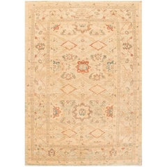 Oversize 21st Century Beige and Blue Persian Sultanabad Carpet