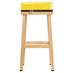 Visser and Meijwaard Truecolors High Stool in Yellow PVC Cloth with Zipper