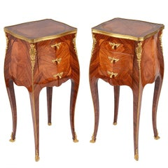 Pair of French Louis XVI Style Side Cabinets