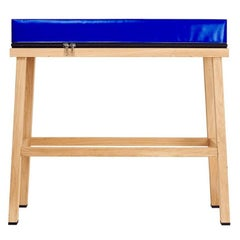 Visser and Meijwaard Truecolors High Bench in Blue PVC Cloth with Zipper