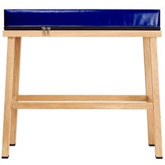 Visser and Meijwaard Truecolors High Bench in Dark Blue PVC Cloth with Zipper