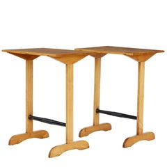 Pair of 1920s Swedish Birch Occasional Tables