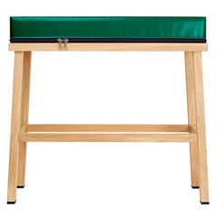 Visser and Meijwaard Truecolors High Bench in Green PVC Cloth with Zipper